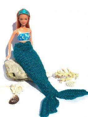 Meerjungfrauendecke häkeln für Barbies ++ ATLANTIS ++