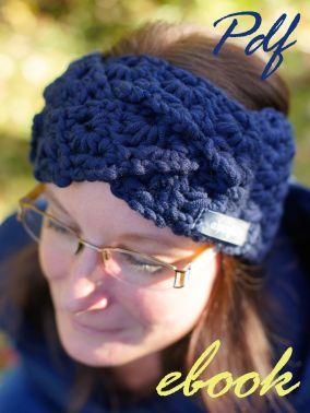 16 E-Book Stirnband blaue Sterne