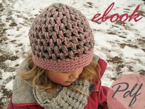 07 E-Book Häkelanleitung Mädchenmütze in rosa-grau