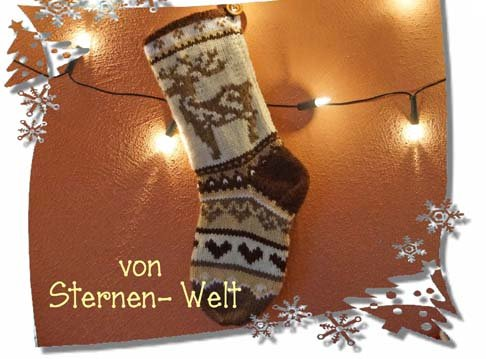 Weihnachtssocken, Christmas Stocking, tolle Deko stricken