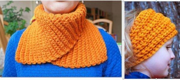 Häkelanleitung für ein Set: Halswärmer und Stirnband. Easy. | MyBoshi.net