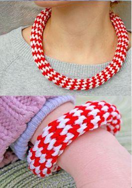 Häkelanleitung (sehr einfach) für Häkelkette und Armband.