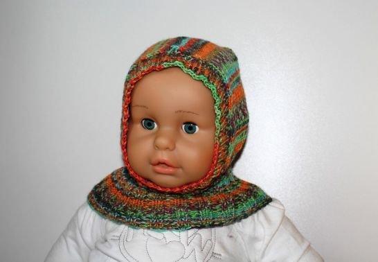 Schalmütze / Schlupfmütze für Kinder von 6 - 36 Monaten