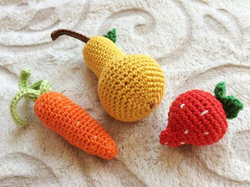 Erdbeere,Karotte & Birne für die Spielküche