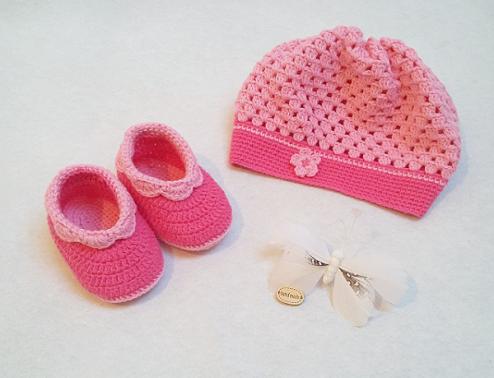Häkelanleitung Babyset Ella 2tlg. 3-9 Monate