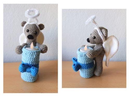 Engel Teddy Teelicht