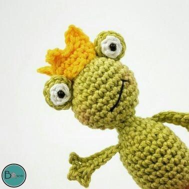 Häkelanleitung kleiner Frosch  ´to´go´