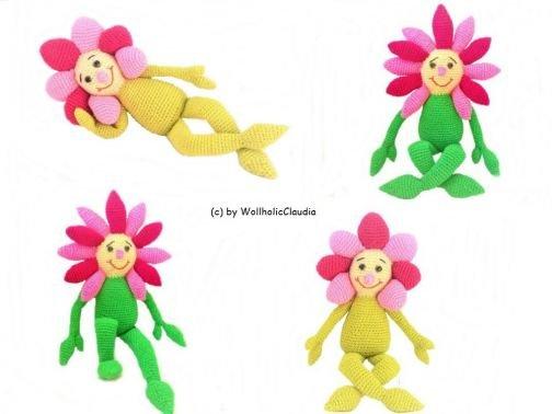 Häkelanleitung Blume Flora und Lisa Sparpaket