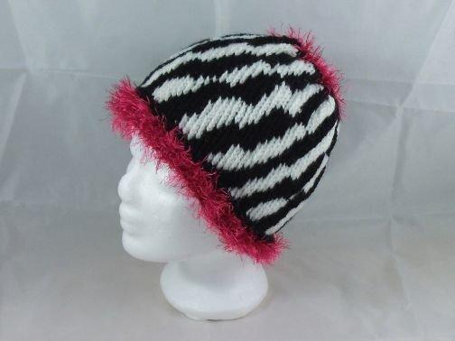 Mütze mit Zebramuster (Beanie möglich)