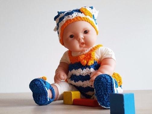 kurzer Strampler für 35 cm Puppen
