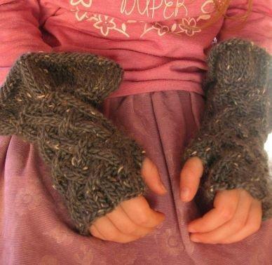Stulpen Handschuhe Godiel Mädchen Strickanleitung
