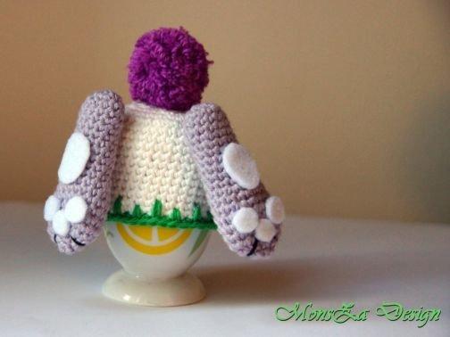 Eierwärmer Häschen oder Häschen im Blumentopf häkeln