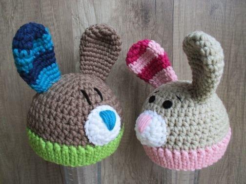 Baby- und Kindermütze Hase - Häkelanleitung