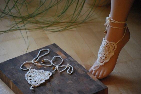 Barfuß-Sandale Flowerbunch