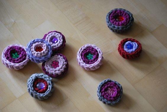 Textilgarn  - kleine Körbchen