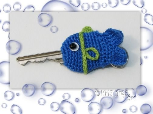 Häkelanleitung Key Cap Fisch