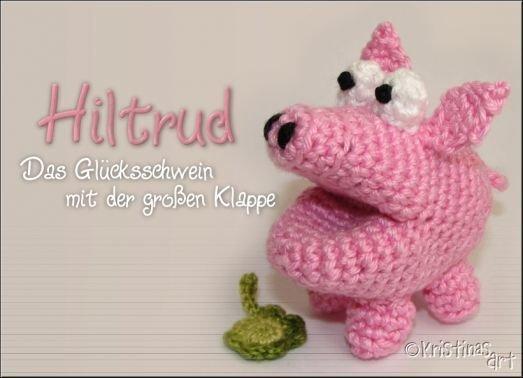 Häkelanleitung Glücksschwein