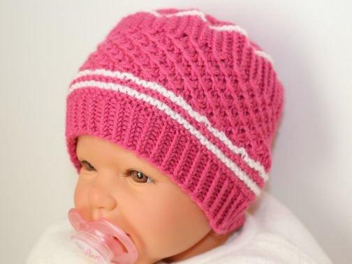 Babymützchen, Babymütze, Strickanleitung