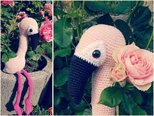 Häkelanleitung Flamingo AGATHE Schlenkertier
