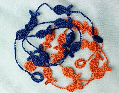 Wickelarmband Armband mit Fischen - leicht und trendy
