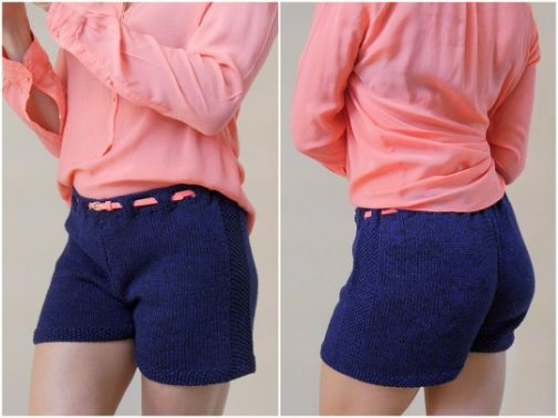 Strickanleitung - Shorts - kurze Hose  - DARK BLUE No.171