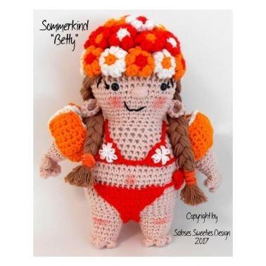 """Häkelanleitung """"Sommer-Kind Betty"""" #0015 PDF Schwimmer"""