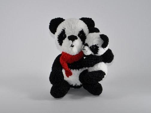 Pandabären Familie