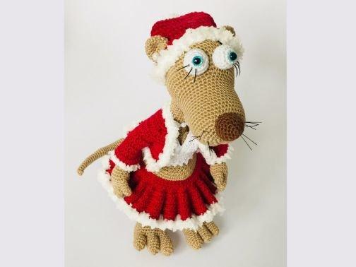 Wiesel Rösli, im Weihnachts-Outfit.  (Komplett-Set)