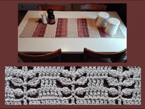 Tischläufer Blattwerk