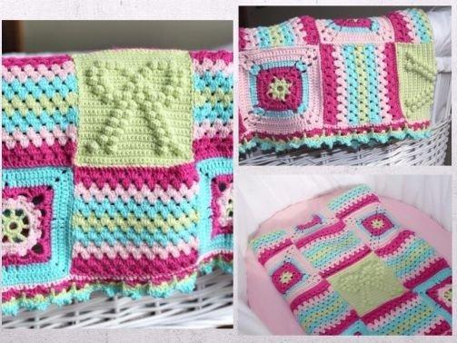 Maschen mit Liebe - Häkelanleitung Baby Decke mit Grannys \