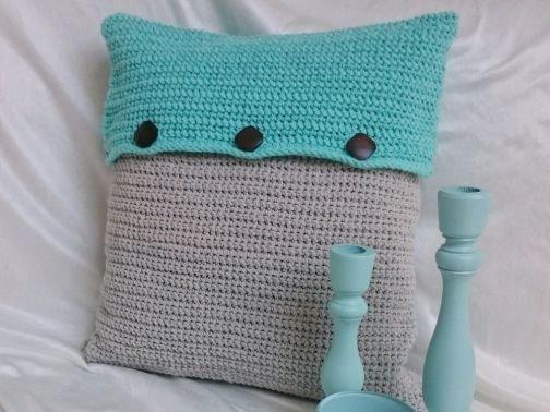 Anleitung für eine Kissenhülle aus Eco Barbante von Hoooked