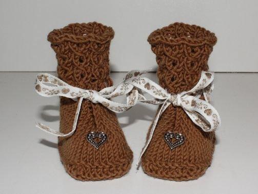 Strickanleitung Baby-Stiefelchen, Booties, Sohlenlänge 10 cm