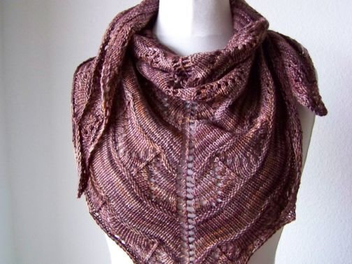 "Strickanleitung Tuch ""Coffee Toffee"""