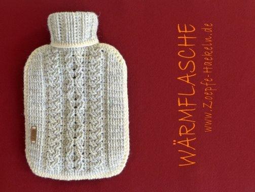 Mod. 023 - Wärmflasche mit Zopfmuster
