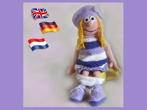 Großes Mädchen Julia PDF Häkelanleitung  Puppe