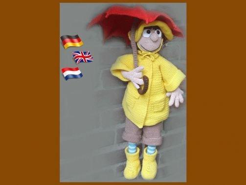 Herbstmädchen PDF Häkelanleitung Puppe