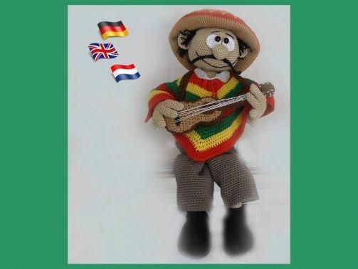 Mexicaner Hernando PDF Häkelanleitung Puppe