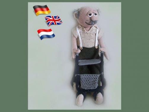 Großvater Frank PDF Häkelanleitung  Puppe