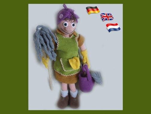 Putzfrau Lucile PDF Häkelanleitung Puppe