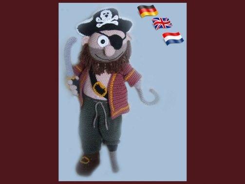 Kapitän Jack, PDF Häkelanleitung Puppe