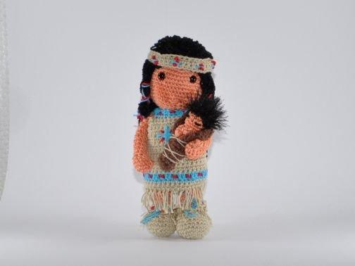 Indianermädchen mit Baby