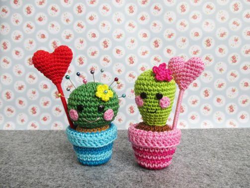 Häkelanleitung Valentins-Kaktus