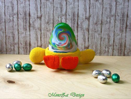 Eierbecher oder Osterkörbchen Ente häkeln