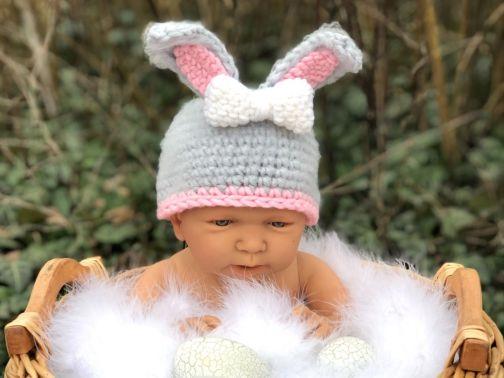 Häkelanleitung Babymütze BABY BUNNY