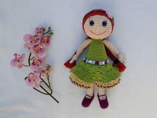 """Häkelanleitung Puppe """"Blumenmädchen Romy und Leni"""""""