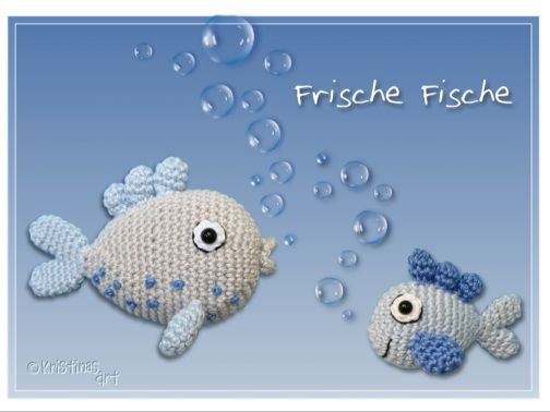 Frische Fische * Häkelanleitung I Amigurumi