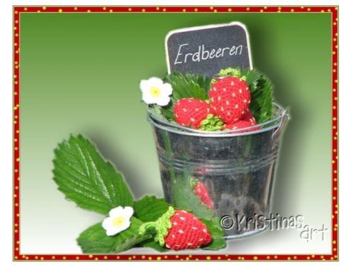 Häkelanleitung Erdbeere I Obst I Früchte