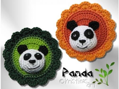 Häkelanleitung Panda-Button