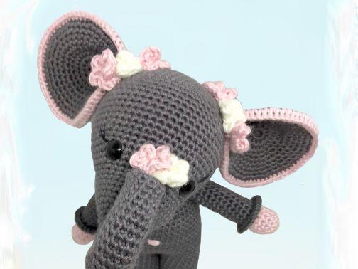 Häkelanleitung Kuschelschnuffelbande Baby Elefant Elli
