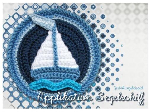Häkelanleitung Segelschiff-Applikation